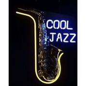 Saxophone Cool Jazz Neon Sign